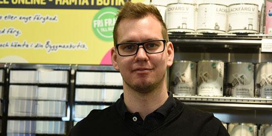 Emil Hansen, platschef Byggmax
